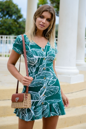 Afternoon delight dress - Green Print