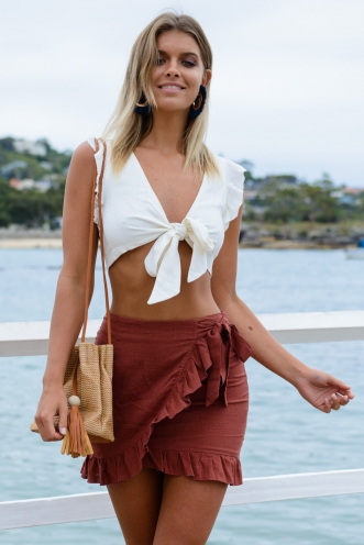 Audrina Skirt - Brown