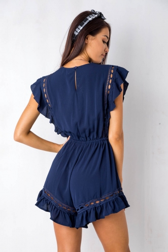 Golden Days Playsuit - Navy