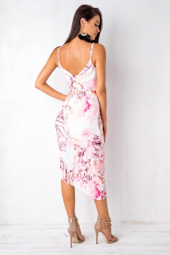 It Goes Like This Dress - White/Pink
