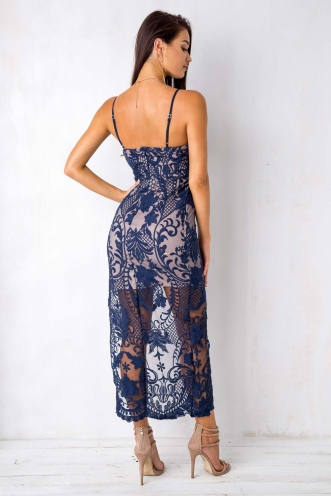 Be Mine Dress - Navy Lace