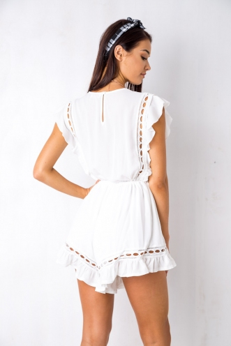 Golden Days Playsuit - White