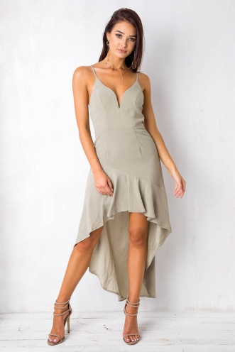 Little Things Dress - Light Khaki