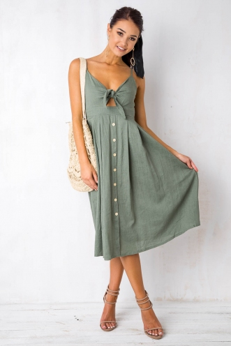 U Got It Bad Dress - Khaki