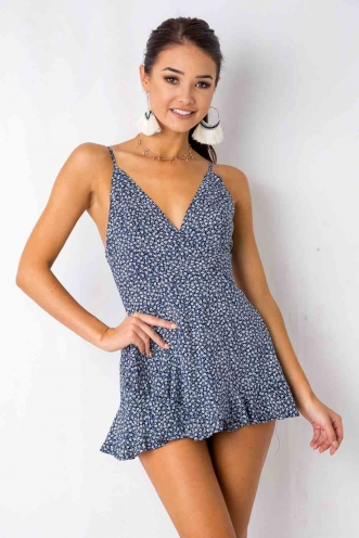 Just the way you are playsuit - Navy Print