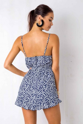 Losin Control Playsuit - Navy Print