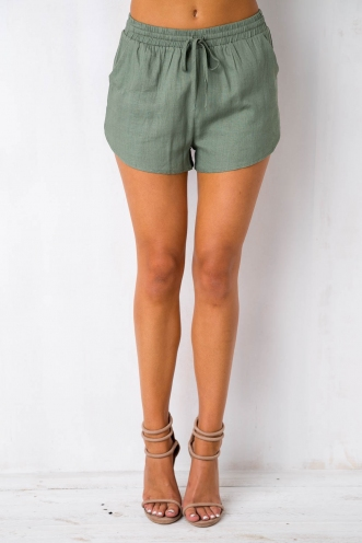 Tropical Delight Shorts - Khaki