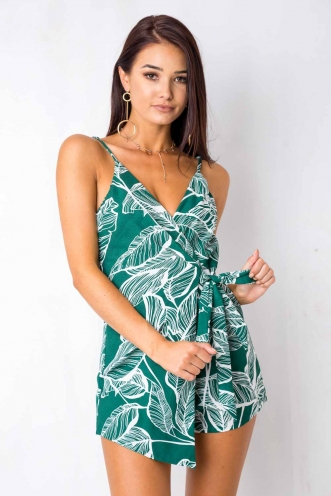 Charlotte Playsuit - Green Print
