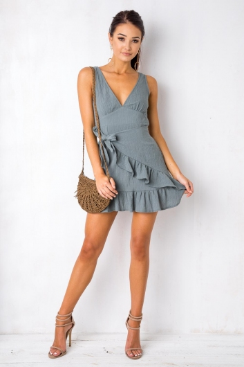 Move Over Dress - Charcoal Blue