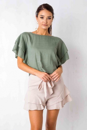 Caught in the rain top - Khaki