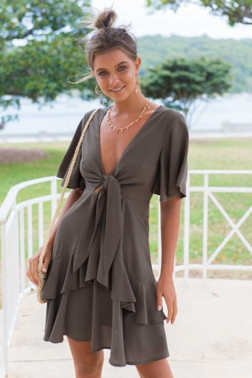 Twilight Desire Dress - Khaki