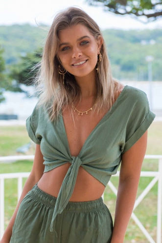 Sun Kissed Top- Khaki