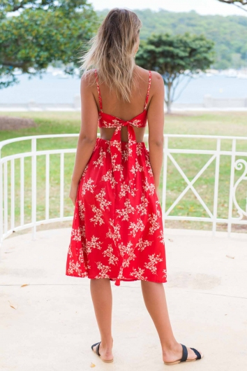 Market Day Top - Red Print