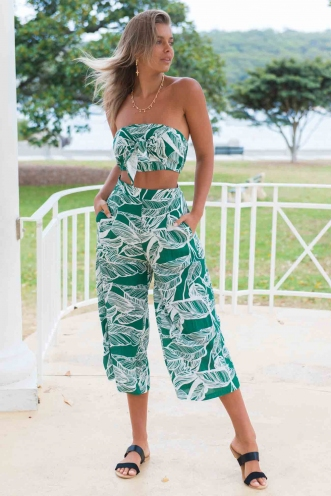 Shavaun Pants - Green Print