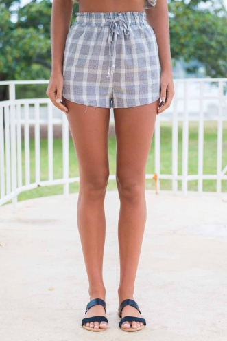 Open Boulevard Shorts - Chequered Stripe