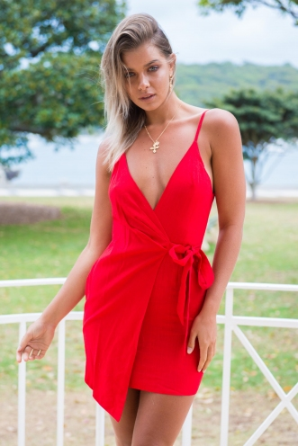 Up All Night Dress - Red