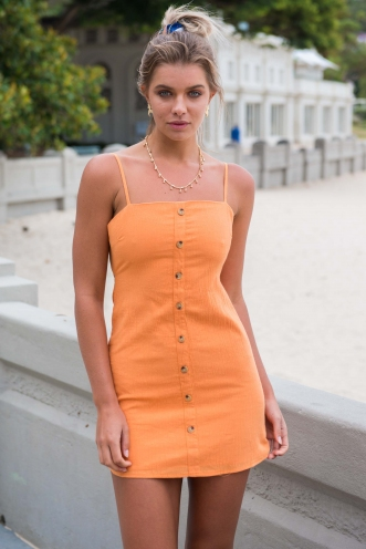 Carlie Dress - Tangerine