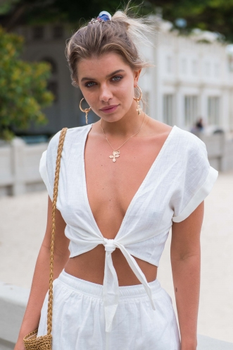 Sun Kissed Top- White