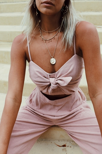 Love Like This Jumpsuit - Dusty Pink