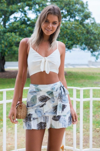 Coconut Cake Skirt - Khaki/Brown Palm