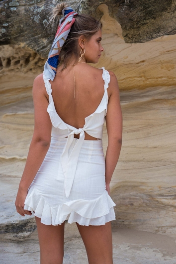Road To Nowhere Dress - White