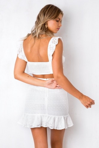 Necessity Crop Top - White