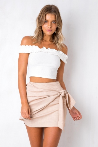 Sweet Tea Skirt - Beige