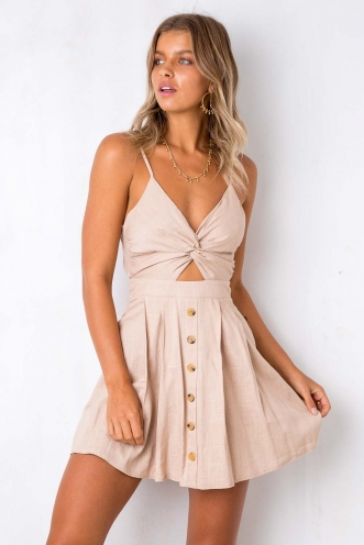 Changing Seasons Dress - Beige