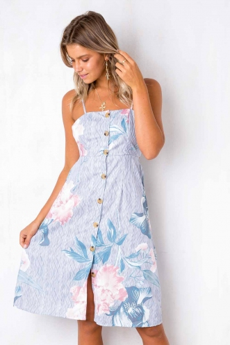 Drops of Jupiter Dress - Stripe Floral