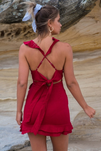 Cheeky Chic Dress - Maroon