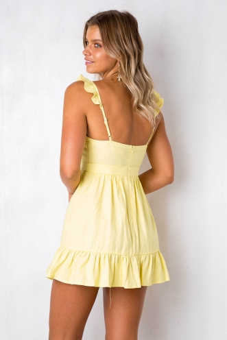 Far Away Dress - Yellow