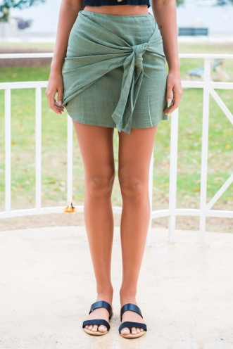 Sweet Tea Skirt - Khaki