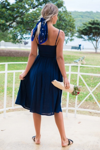 Pretty Lady Dress - Navy