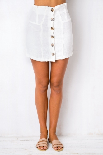 Freesia Skirt - White