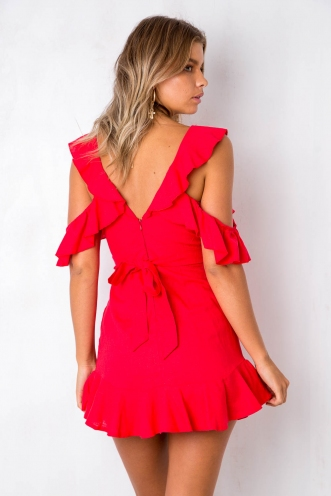 For The Thrill Dress- Red