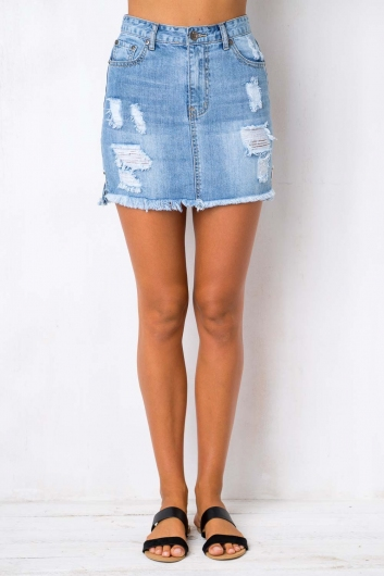 Water Lily Skirt - Blue Denim