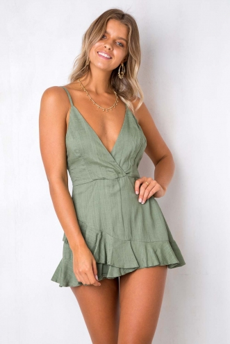Just the way you are playsuit - Khaki