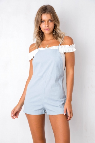 Easy, Tiger Playsuit - Blue