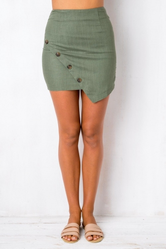 Infatuation Skirt - Khaki