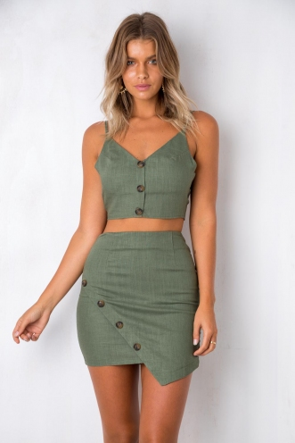 Infatuation Top - Khaki
