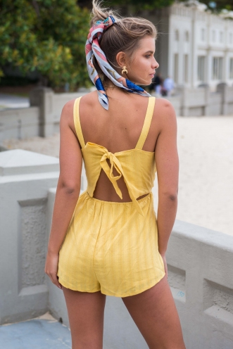 Start It Playsuit - Mustard