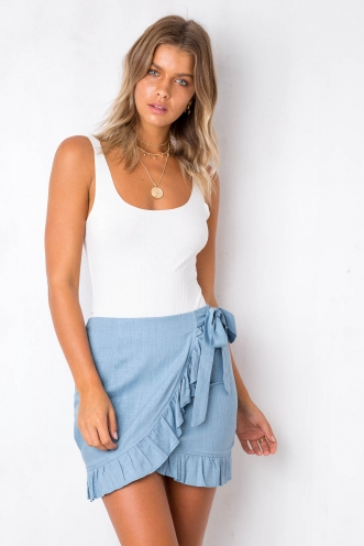 Audrina Skirt - Blue
