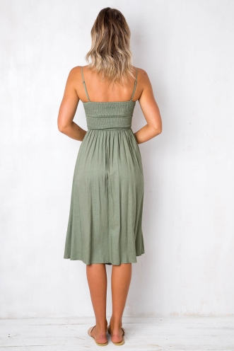 Pretty Lady Dress - Khaki