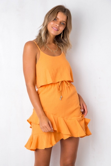 Wasted Words Dress - Tangerine