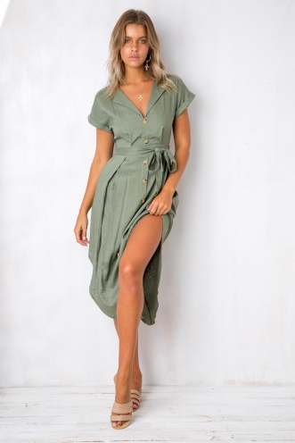 All I Ever Wanted Dress - Khaki