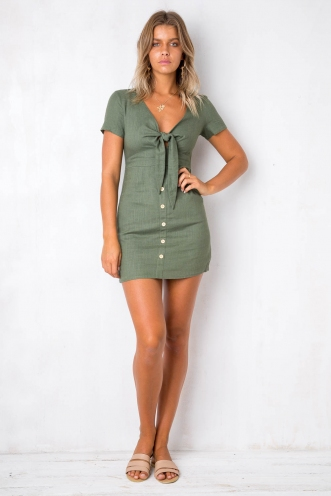 I Need You Dress - Khaki