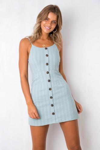 Paris Bound Dress - Sage