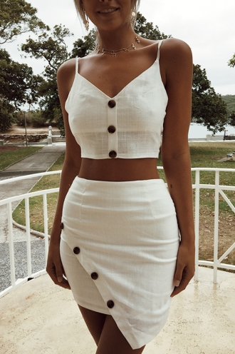 Infatuation Skirt - White