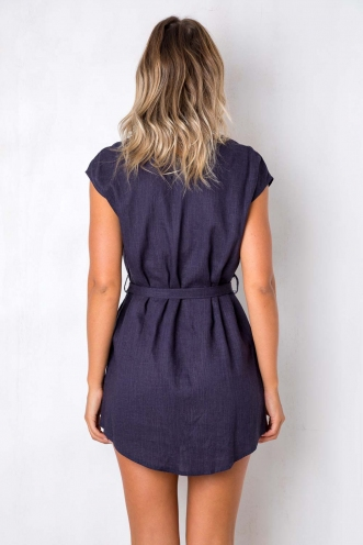 Girl Tribe Dress - Navy