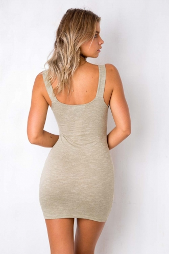 Ella Bella Dress - Light Khaki